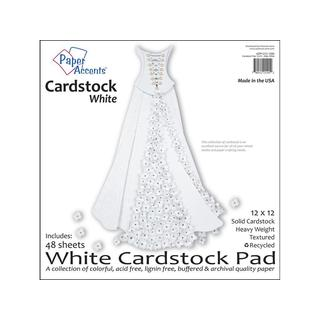 Cardstock Pad 12x12 48pc White