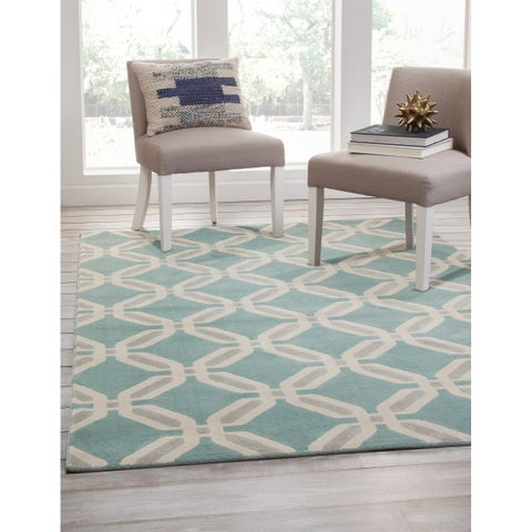 Geneva Teal/Lt. Grey/Ivory Area Rug by Greyson Living - 7'9 x 10'6