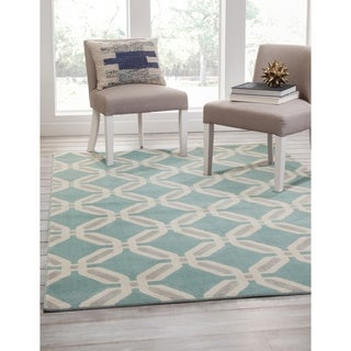 Geneva Teal/Lt. Grey/Ivory Area Rug by Greyson Living (7'9 x 10'6) - 7'9 x 10'6