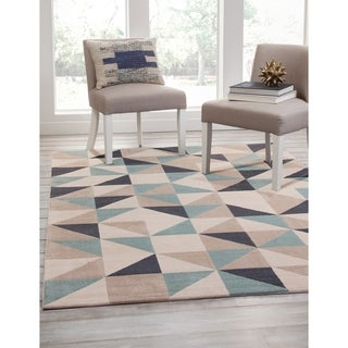 Milo Beige/Grey/Teal Area Rug by Greyson Living (7'9 x 10'6)