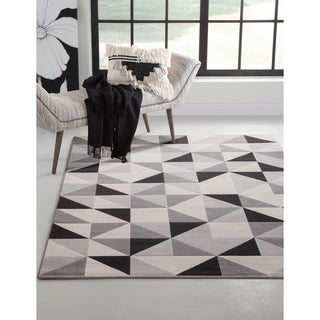 Milo Grey/Black/Ivory Area Rug by Greyson Living (7'9 x 10'6) - 7'9 x 10'6