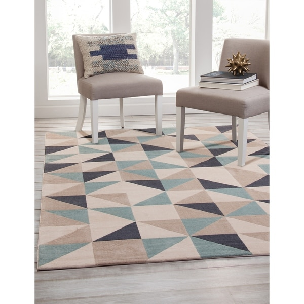 "Milo Beige/Grey/Teal Area Rug by Greyson Living - 5'3"" x 7'6"""