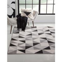 "Milo Grey/Black/Ivory Area Rug by Greyson Living - 5'3"" x 7'6"""