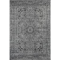 "Persian Rugs Grey Antique-style Area Rug - 7'10"" x 10'6"""