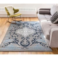 Well Woven Filigree Modern French Iron Medallion Scrolls Area Rug - 3'4 x 5'