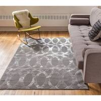 "Well Woven Iron Links Modern French Trellis Lines Area Rug - 3'3"" x 5'"