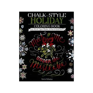 Design Originals Chalk-Style Holiday Coloring Bk