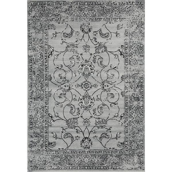 Persian Rugs Multicolored Grey Floral Oriental Area Rug - 5'2 x 7'2