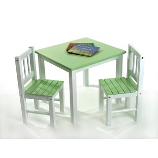 Lipper Children's Green Chair Set