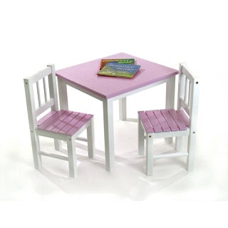 Lipper Children's Pink Chair Set