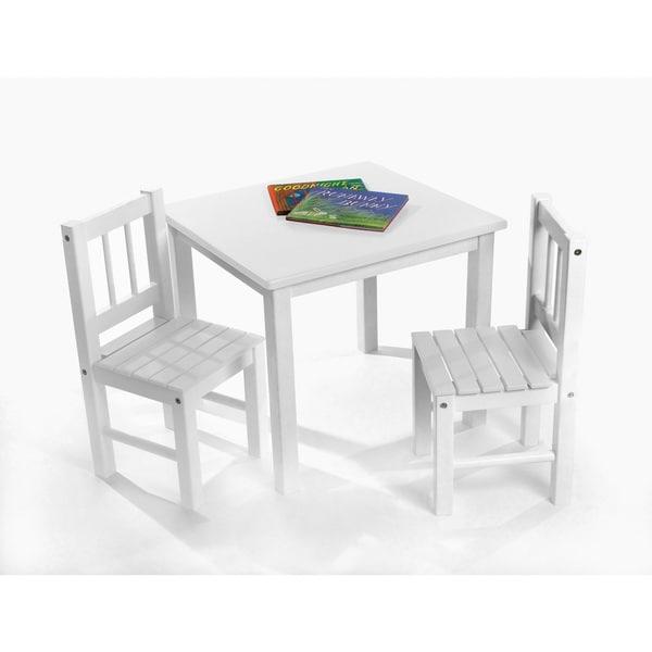 Lipper Children's White Chair Set