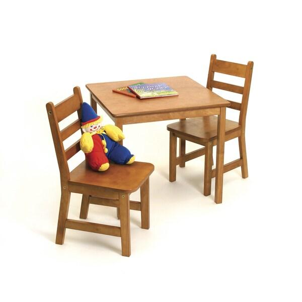 Lipper Children's Pecan Chair Set