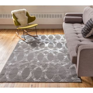 Well Woven Iron Links Modern Trellis Lines Area Rug (7'10 x 9'10 )