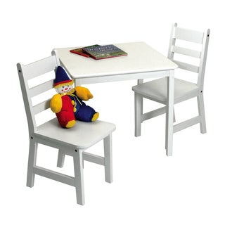 Lipper Children's White Chair Set