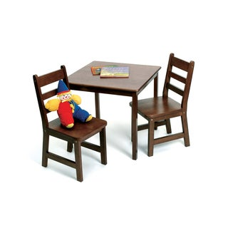 Lipper Children's Walnut Chair Set