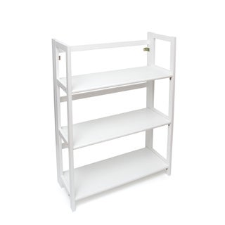 Lipper Folding Bookcase, White