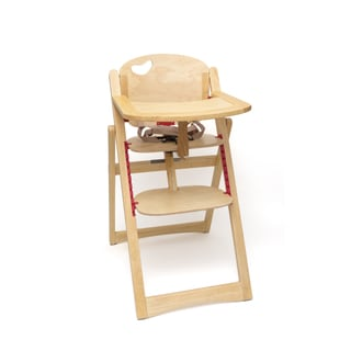 Lipper Folding Natural Finish High Chair