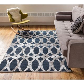 Well Woven Iron Links Modern Trellis Lines Area Rug (9'3 x 12'6 )