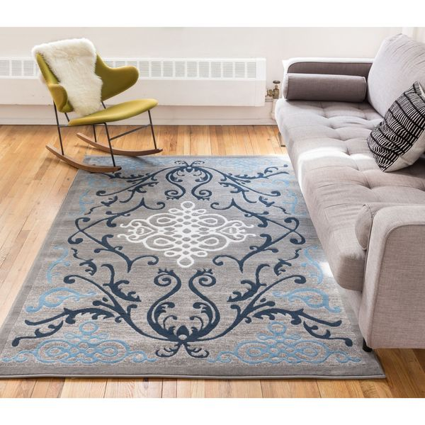 "Well Woven Filigree Modern Iron Medallion Scrolls Area Rug - 9'3"" x 12'6"""