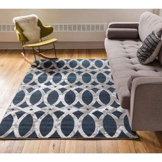 Well Woven Iron Links Modern Trellis Lines Area Rug (2'7'' x 3'11'' )