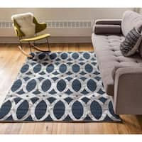 "Well Woven Iron Links Modern Trellis Lines Area Rug - 2'7"" x 3'11"""