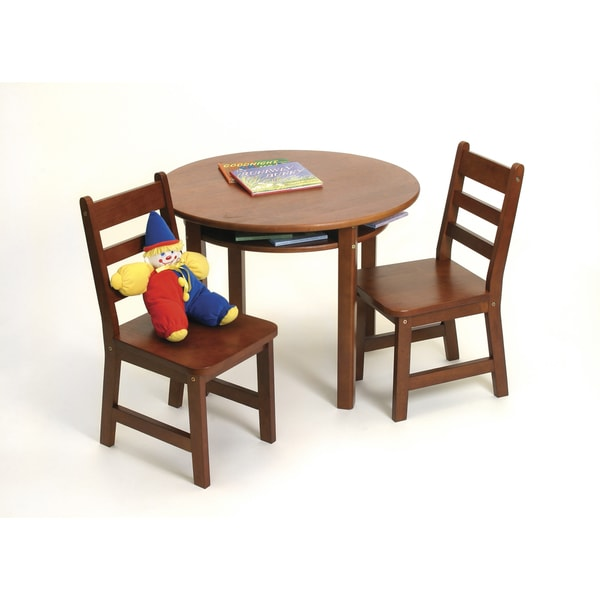 Lipper Cherry Round Table and Chair Set
