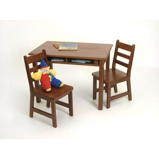 Lipper Cherry Rectangular Table and Chair Set