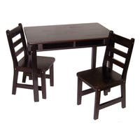Lipper Espresso Rectangular Table and Chair Set