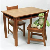 Lipper Pecan Rectangular Table and Chair Set