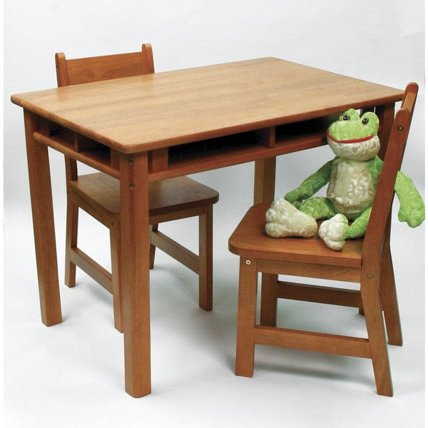 Lipper Pecan Rectangular Table and Chair Set