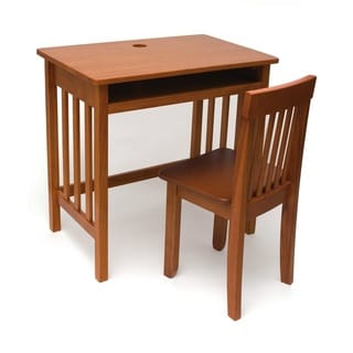 Lipper Children's Desk and Chair, Pecan