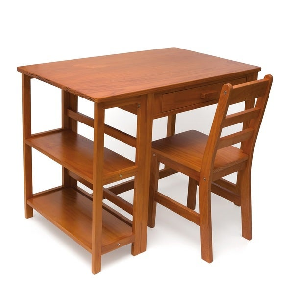Lipper Children's Workstation and Chair, Pecan