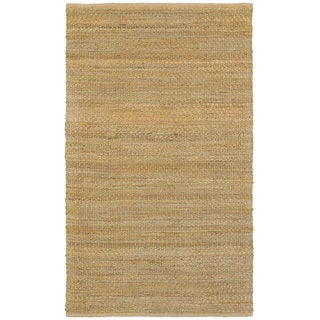 L and R Home Natural Fiber Green Indoor Area Rug (9' x 12')