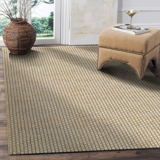 L and R Home Natural Fiber Indigo Indoor Area Rug (9' x 12')