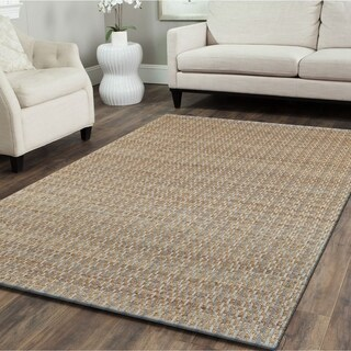 L and R Home Natural Fiber Sky Blue Indoor Area Rug (9' x 12')