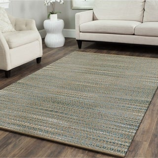 L and R Home Natural Fiber Moonstone Indoor Area Rug(9' x 12')