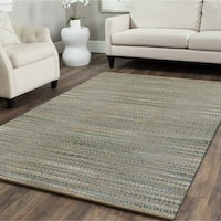 LR Home Hand Loomed Natural Fiber Antique Moonstone Jute/ Chenille Rug - 9' x 12'