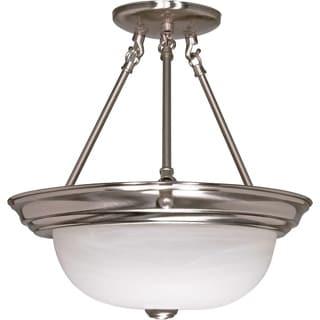 Y-Decor Alabaster 2-light Semi Flush Mount Lighting