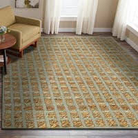 LR Home Natural Fiber Grey Indoor Area Rug (9' x 12') - 9' x 12'