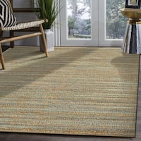 LR Home Natural Fiber Teal Indoor Area Rug (8' x 10') - 8' x 10'