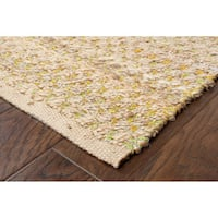 LR Home Hand Loomed Natural Fiber Delrio Green Jute/ Chenille Rug - 8' x 10'