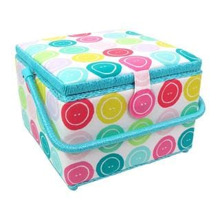 St Jane Sewing Basket Lg Square Buttons