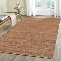 LR Home Natural Fiber Burgundy Indoor Area Rug - 8' x 10'