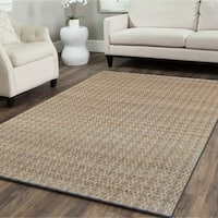 LR Home Natural Fiber Sky Blue Indoor Area Rug (8' x 10') - 8' x 10'