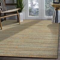 """LR Home Natural Fiber Teal Indoor Area Rug - 5'2"""" x 7'9"""""""