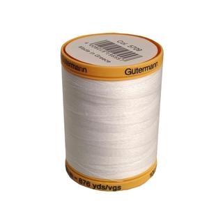 Gutermann 100% Nat Cotton Thread 800M White