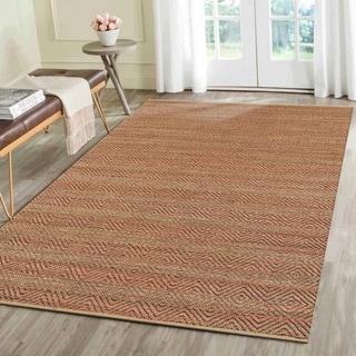 "L and R Home Natural Fiber Burgundy Indoor Area Rug (5' x 7'9"")"