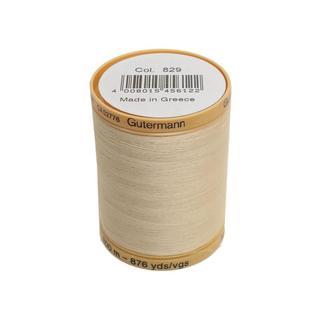 Gutermann 100% Nat Cotton Thread 800M Cream