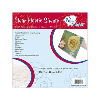 "Plastic Sheet 12x12 .010"" Clear 4pc"