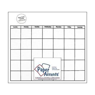 Calendar Page 12x12 White Plastic 1pc